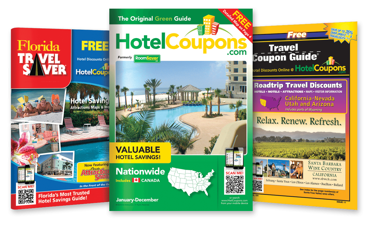 Hotel discount coupon book