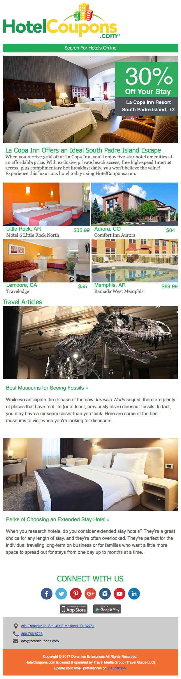 HotelCoupons National Newsletter