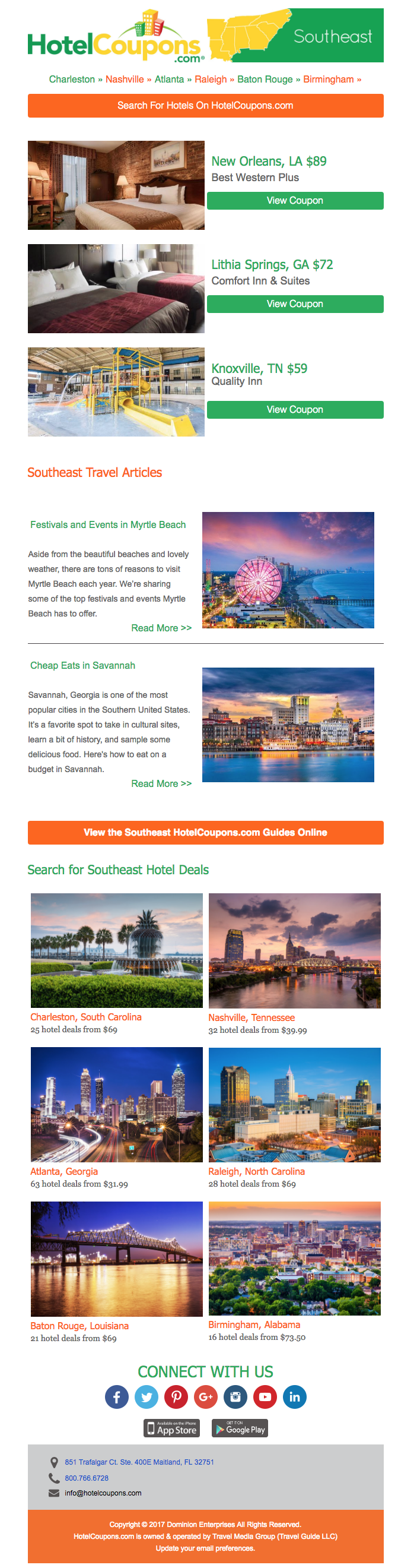 HotelCoupons Regional Email