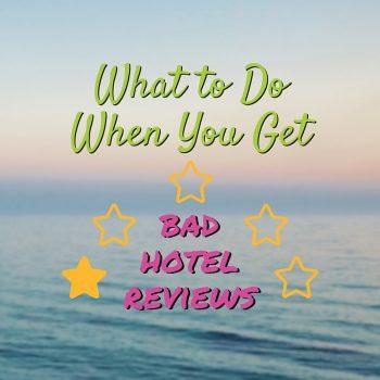 bad hotel reviews