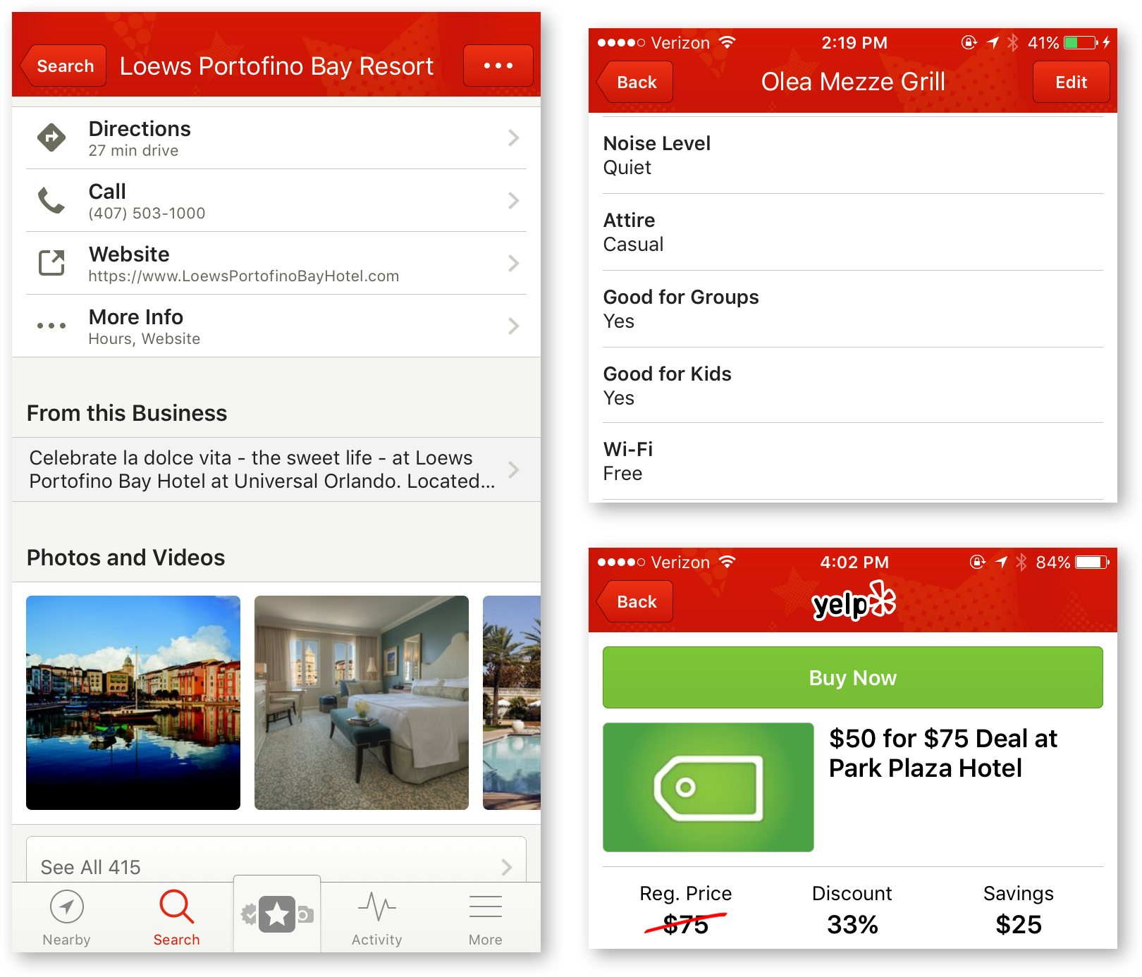 yelp business information