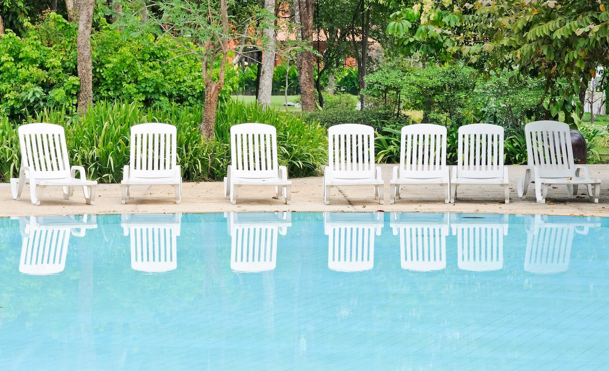 Pool deck lounge chairs