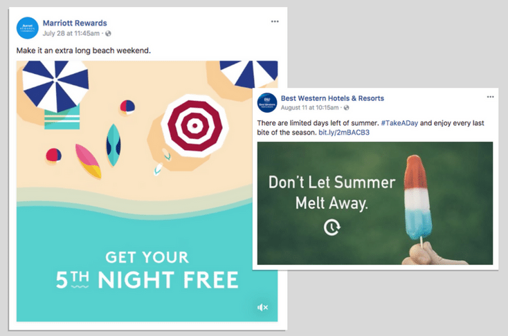 Hotel social media posts